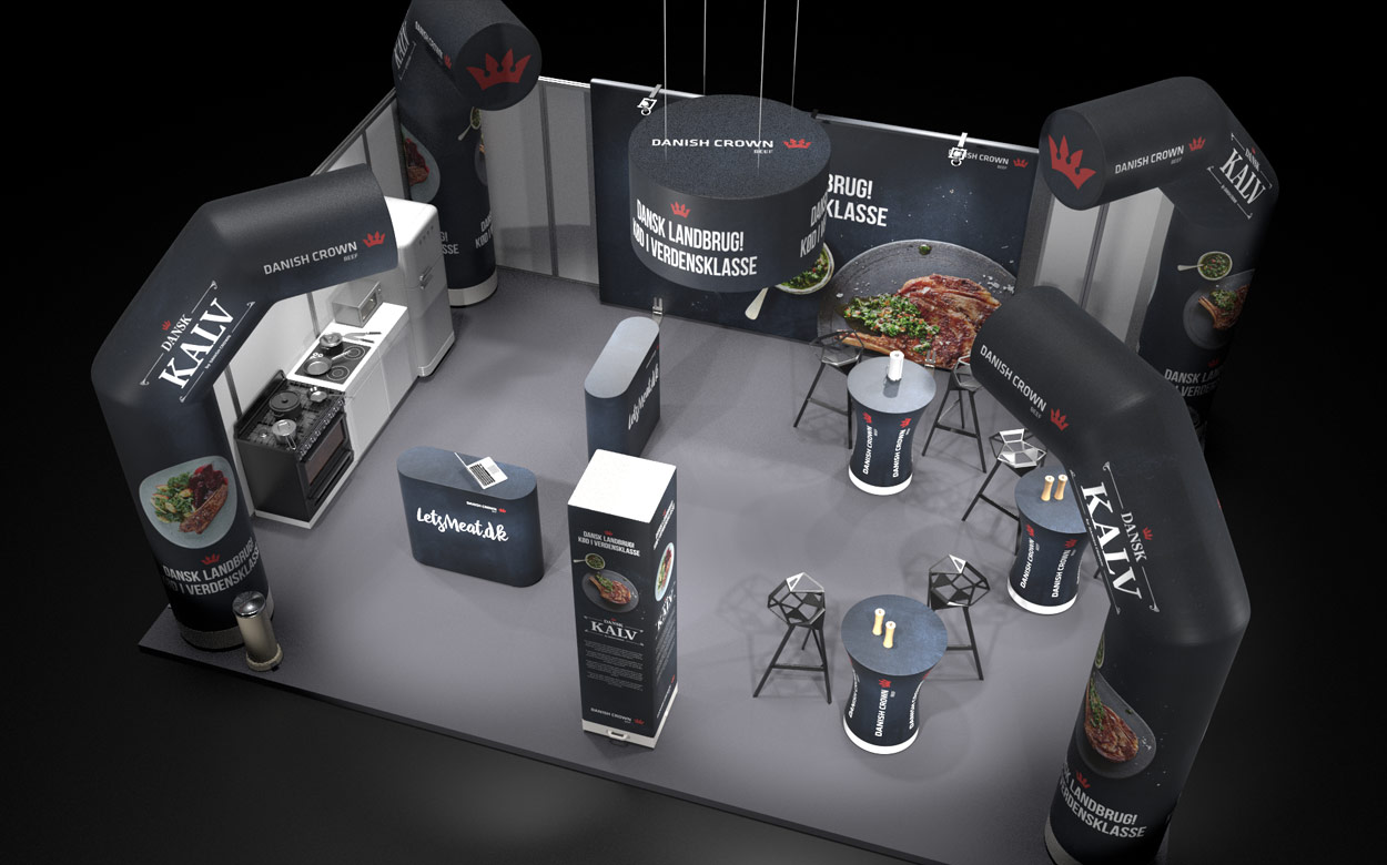 messestand design ovenfra