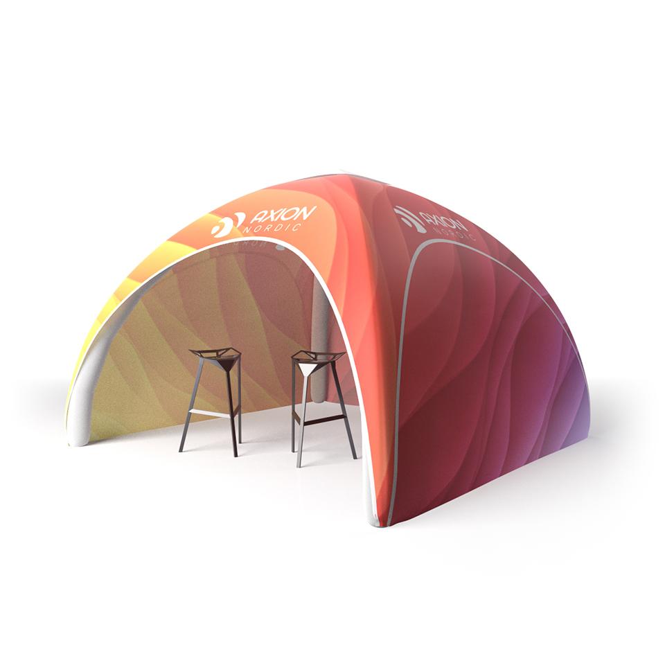 Oppblåsbart event telt med trykk til pop up event og messe